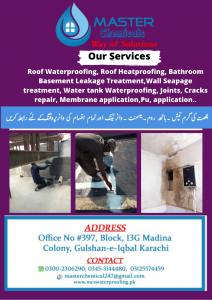 Roof Waterproofing in Pakistan